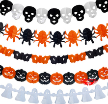 Party Wall Decoration Halloween Tassel Garland Paper