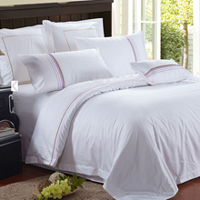 300tc plain white promotional percale luxury hotel collection bedding sets hotel bed flat sheet (SQNC20150511l1)