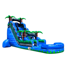 Coconut inflatable slip slide with pool