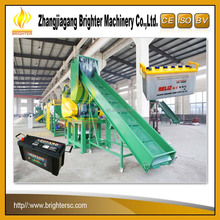 SUS316 Waste PP PPO ABS car battery case crushing washing drying pelletizing recycling line