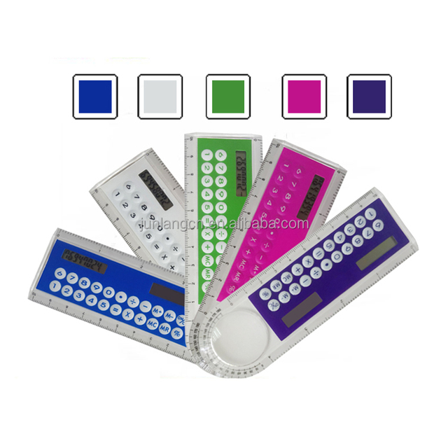 Hot Selling 8 Digits Dual Power Ruler Calculator with Magnifier