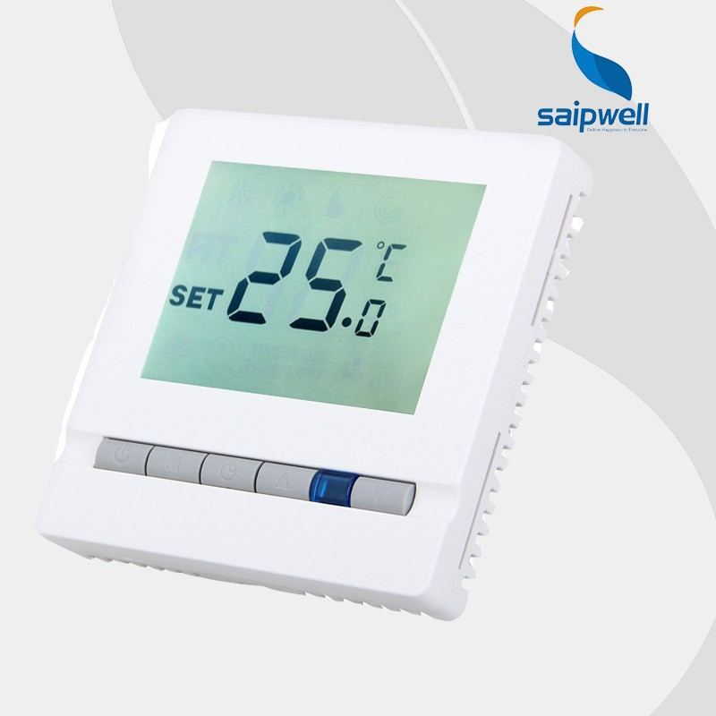 Factory Outlet Saipwell Floor Heating Thermostat Digital LCD Display Room <strong>Temperature</strong> SP03H3