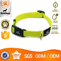 Reflective Nylon Dog Collar For Training With Buckle And Hook For Pet Leash Wholesale