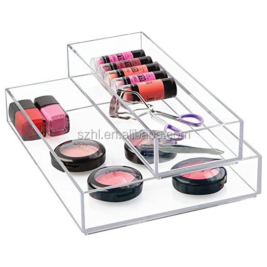 Acrylic Cosmetic/Makeup Display Tray, Plexiglass Tray