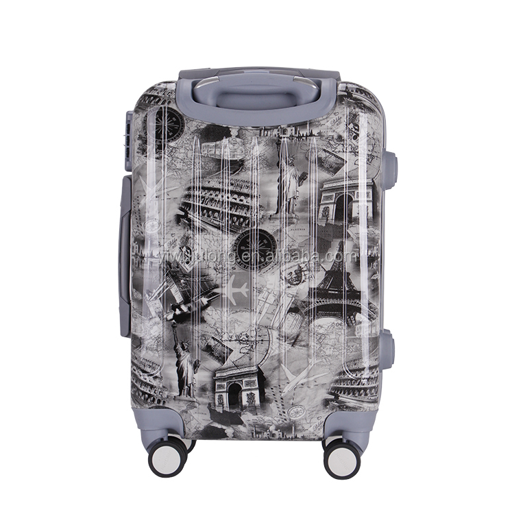 Nice Cartoon Printed 3 Piece Trolley Luggage Set ABS PC Travel Suitcase