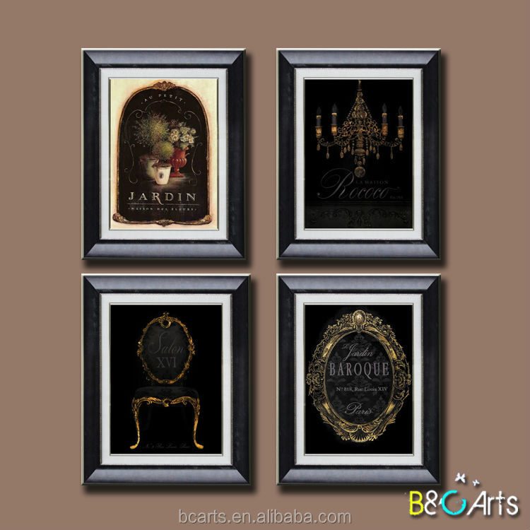 Simple cheap Plastic oil painting frames wholesale made in China