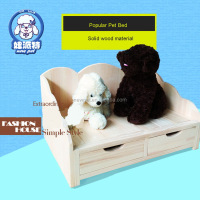 Natural style import grade dog house bed asphalt roof wooden dog house with porch with drawer