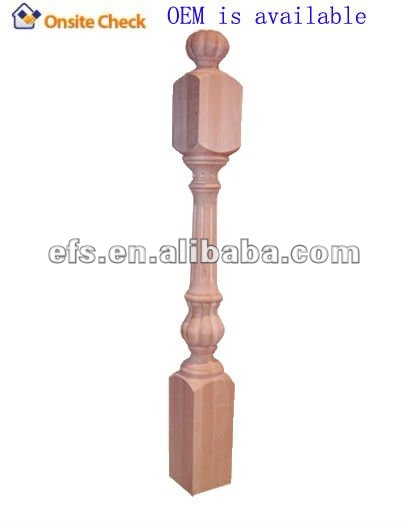antique square wooden fence post (EFS-T-9002)