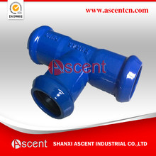 All socket tee for PVC pipe