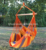 vivid colorful striped hanging hammock chair