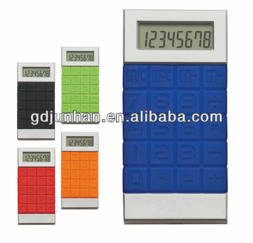 promotional folding flexible rubber calculator