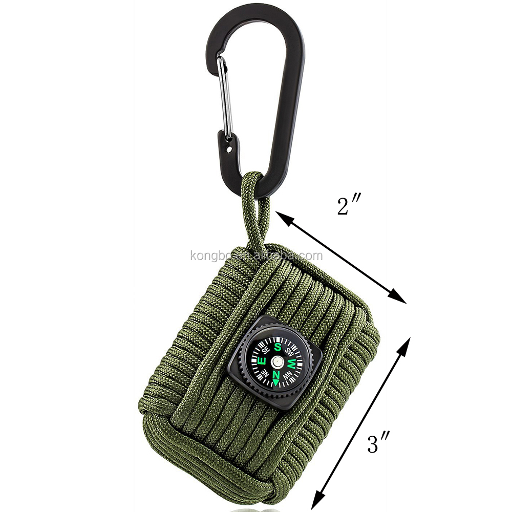KongBo wholesale fishing Tools paracord emergency survival kit outdoor