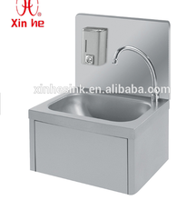 Knee Operated Commercial Sink for Commercial Use, Stainless Steel Knee Operated Wash Hand Basin for Hand Wash Basin