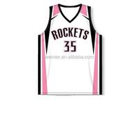 wholesale 2014 newest basketball shirt/women basketball jersey