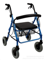 Four-wheel Chair for Elder Walking Assistant Chair Aluminium Portable