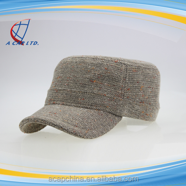 Military Inspired Cap Solid Plain Army Washed Military Cadet Hats