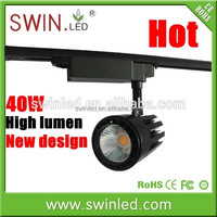 High quality 40W rail cob commercial led track downlight, LED commercial lighting