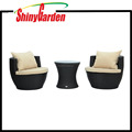 3-Piece Outdoor Stacking Stackable Rattan Vase Wicker Chair Set Furniture