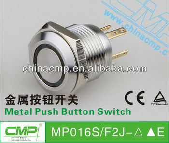 CMP Momentary stainless steel led metal push button switch