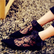Beautiful vintage lace 100% cotton invisible sexy lady women ankle socks