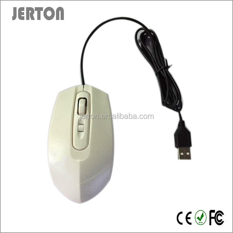 Promotional Wired White Color USB Mouse With OEM Logo Welcome