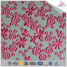 Garment eyelet fabric samples of lace children dress