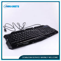 backlit blue switches keyboard ,HL-269, magnetic detachable bluetooth gaming wireless keyboard for ipad mini