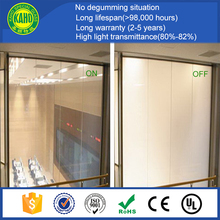 Hot sale High quality Milky white electric control opaque switchable smart glass for partiition