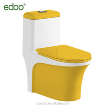 Industrial toilets siphon votex one piece yellow color toilet best selling modern wc water saving toilet