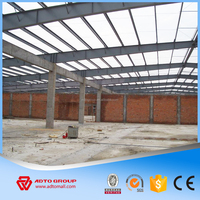 Light weight warehouse tube frame,Metallic structures for warehouse,Singapore light steel structure prefab warehouse