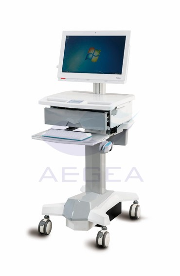 AG-WT006 movable wireless computer nursing medical workstation trolley