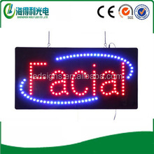 High bright acrylic electronic led facial waxing letter signage