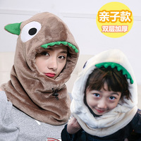 Cute Animal Flannel Women Child Beanie Windproof Ear Muff Earflap Cap Winter