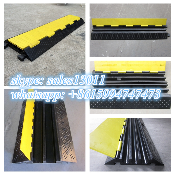 rubber u channel cable ramp for electrical cable