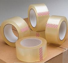 1.7mil-2.1mil Clear Bopp Packing tape Adhesive side and Logo Customized Design Packing Tape
