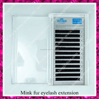 Fashion style mink fur eyelash extension with supple material