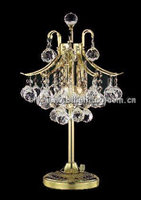 Golden fancy K9 crystal home crystal table lamp