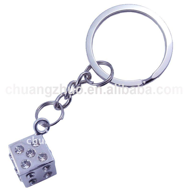 fashion metal dice key chain