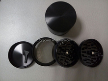 4 part grinder tobacco spice herb grinder black 55mm*45mm