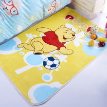 cartoon little beer printed kids soft creeping mat thick flannel baby kids play mat