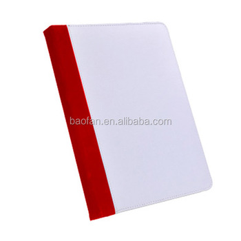 Blank white fabric sublimation leather filp cover for IPD2/3/4