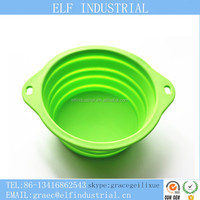 Hot Seller Plastic Injection Molding Parts Animal Product Portable Collapsible Silicone Pet Bowls Dog Food Storage Container