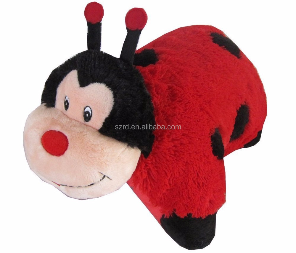 Lady Bug Pets 2-in-1 Stuffed Animal and Pillow Large Ultra Soft with Embroidered Eyes/stuffed soft toy