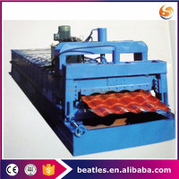 Alibaba roofing galvanized corrugated steel sheet tile making machine