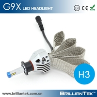 Real Power 22w and 2200lm h3 h1 6000k High Power Car LED Projector Headlight