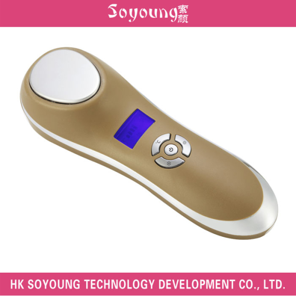 Personal Ion Hot Effect cold sonic Facial Massager