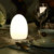 Wireless Decorative Rechargeable Cordless Restaurant Table Lamp Egg Shape Lamp