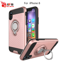 Hybrid shockproof clear case for apple for iphone for iphone 8case sublimation,pu+tpu material for iphone8 case