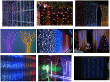 led twinkling fiber optic waterfall light curtain