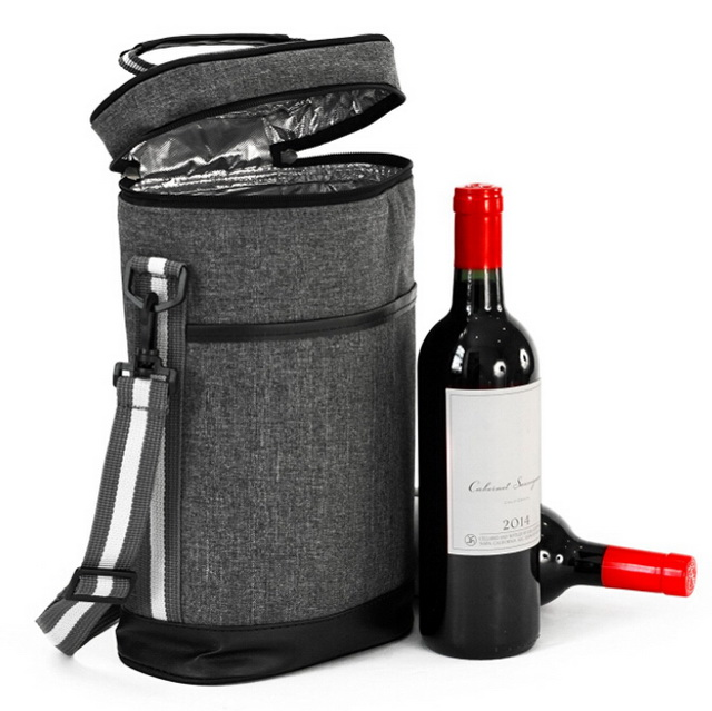 Wholesale custom supreme insulated thermal wine bottle cooler tote carrier bags